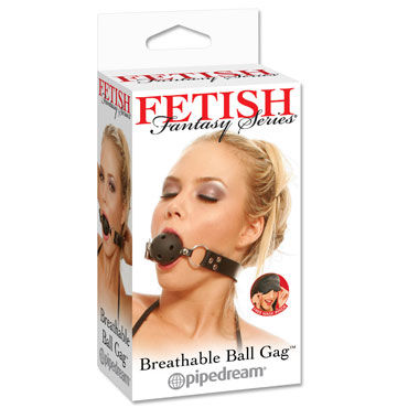 Pipedream Breathable Ball Gag Кляп с отверстиями pipedream gold cockring