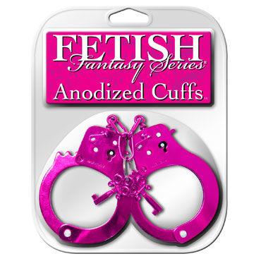 Pipedream Anodized Cuffs, розовые Металлические наручники