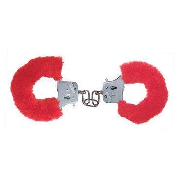 Toy Joy Furry Fun Cuffs, красные Наручники с мехом toy joy furry fun cuffs голубые наручники с мехом