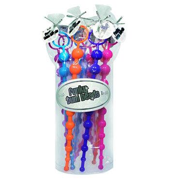 Toy Joy Funky Bum Beads Набор из десяти анальных цепочек toy joy thai toy beads фиолетовая анальная цепочка