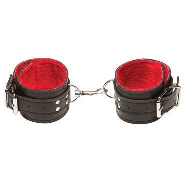 X-play Passion Fur Ancle Cuffs, красные Кожаные поножи x play red passion