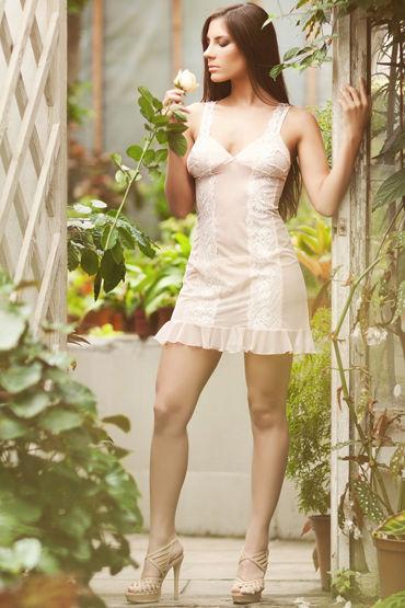 Flirt On Rosie Нежная комбинация с кружевом lolitta luxury bra черный бюстгальтер с кисточками