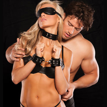 X-play Luscious Black Комплект для бондажа x play love chain wrist cuffs красные кожаные наручники
