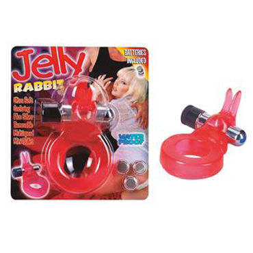 Seven Creations Jelly Rabbit Виброкольцо со стимуляцией клитора you2toys wild dreams jelly dolphin ring эрекционное виброкольцо