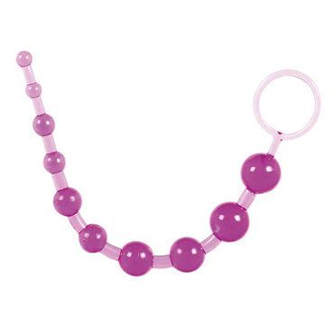 Toy Joy Thai Toy Beads, фиолетовая Анальная цепочка toy joy mad piggy c ring виброкольцо в виде свиньи