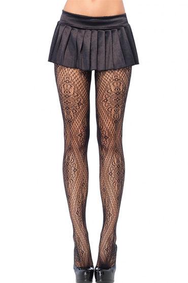 Leg Avenue колготки Элегантный орнамент leg avenue колготки черные со швом сзади