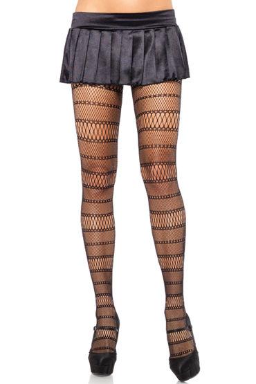 Leg Avenue колготки С комбинированным плетением leg avenue кэтсьюит из ажурной сеточки