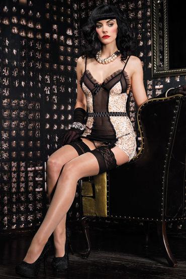 Leg Avenue комплект Сорочка с пажами и стринги интимная игрушка show sex juegos eroticos algemas sexshop sexo leg cuffs