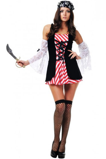 Le Frivole Дочь пирата Мини-платье, головной убор, нарукавники и нож