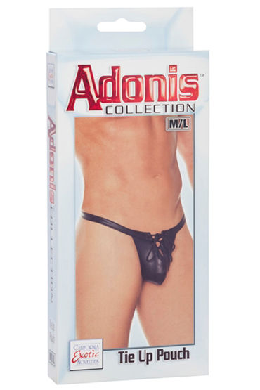 California Exotic Adonis Tie Up Pouch Мужские трусы-стринги cyan sexy deep v neck tie up back lace pajamas