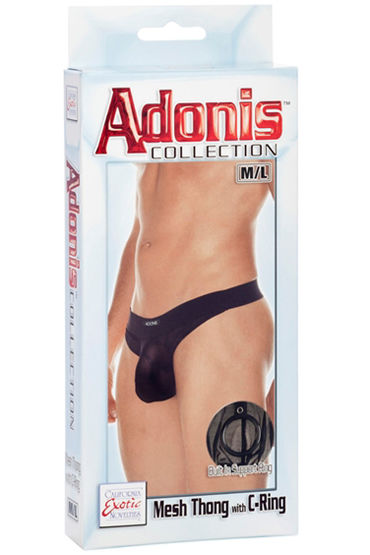 California Exotic Adonis Mesh Thong with C-Ring