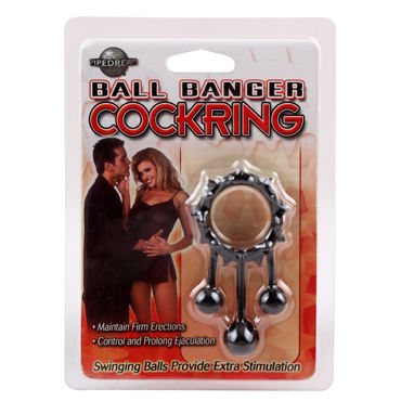 Chisa Ball Banger Cockring, черное