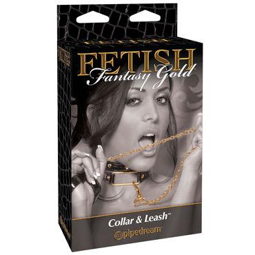 Pipedream Gold Collar&Leash Стильный ошейник с поводком костюм le frivole прелестная школьница s m