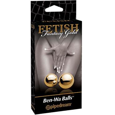 Pipedream Gold Ben Wa Balls Элегантные вагинальные шарики shots toys ben wa balls medium weight вагинальные шарики из стекла