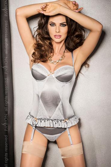 Passion Halla Corset Топ с кружевными вставками и стринги мужское нижнее белье