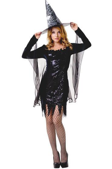 Le Frivole Ведьмочка Платье с накидкой, шляпа и чулки california exotic entice ball gag классический кляп с плюшевой подкладкой
