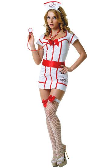 Le Frivole Доктор Сьюзи Платье с поясом, чулки, чепчик и стетоскоп le frivole мини юбка школьницы красная для ролевых игр
