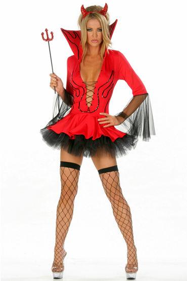 Le Frivole Пламенная Подружка Красивое платье с подъюбником и трезубец le frivole готическая вампирша красивое платье с воротником стоечкой