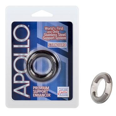 California Exotic Apollo Premium Support Enhancers Standard, серое Эрекционное кольцо стандартного размера california exotic magnum support plus single girth cages серое широкое эрекционное кольцо