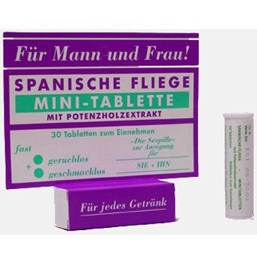 Milan Spanische Fliege Minitabletten, 30 шт Универсальное возбуждающее средство milan liebes zucker man 100 гр стимулирующее средство для мужчин