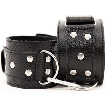 BDSM Арсенал наручники, черные С металлической фурнитурой сменная соединительная планка petzl barrette