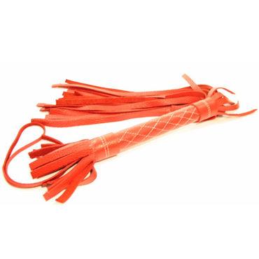 BDSM Арсенал плетка, красная С мягкими шнурами doc johnson vac u lock codeblack realistic kong реалистичная насадка с мошонкой к трусикам