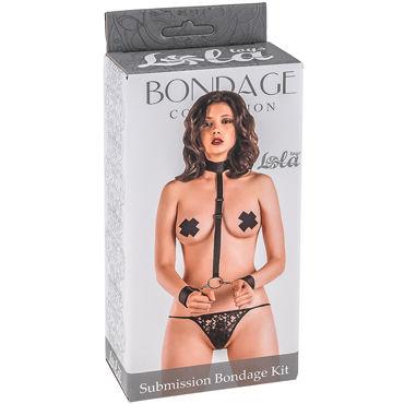 Lola Toys Submission Bondage Kit One Size, черный Ошейник с наручниками стандартного размера wicked one