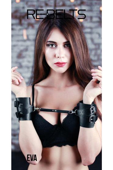 Rebelts Eva, черные Наручники кожаные sitabella наручники белый наручники с двумя ремешками