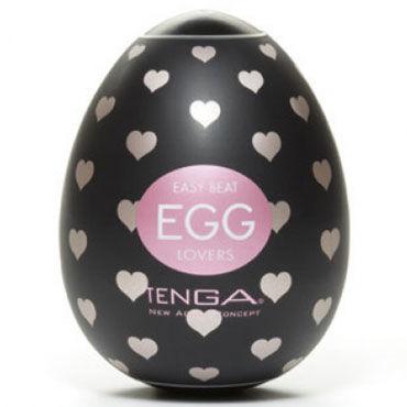 Tenga Egg Lovers Одноразовый мастурбатор с рельефом в виде сердечек tenga egg twister одноразовый мастурбатор с рельефом в виде спиралей