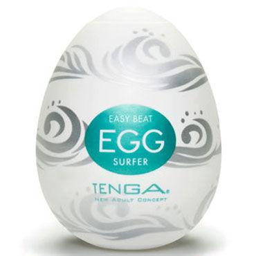 Tenga Egg Surfer Одноразовый мастурбатор с рельефом в виде волн а tenga 3d polygon