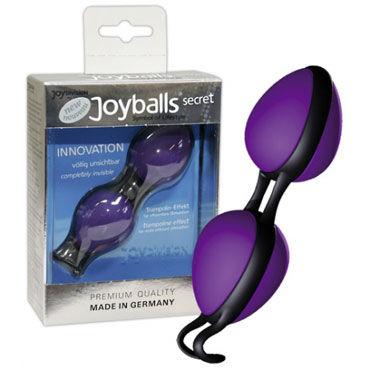 Joy division Joy balls Secret, фиолетовые Вагинальные шарики эргономичной формы г joy drops возбуждающий шоколад 24гр