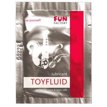 Fun Factory Toyfluid, 3мл Увлажняющий лубрикант для использования с игрушками белье для ролевых игр и костюмы униформа цвет серый