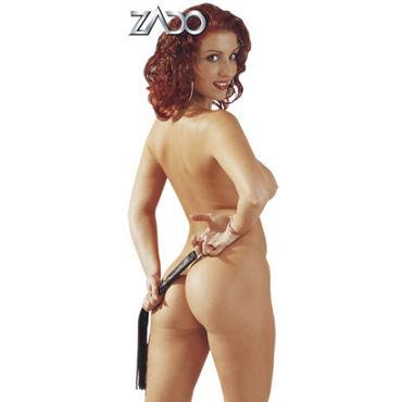 Zado Mini-Peitsche Кожаная плетка 45 см zado leather collar ошейник с кольцом для пристегивания