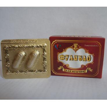 Фулибао, 2 шт Профилактический препарат для мужчин mif анальная пробка телесная с ограничителем