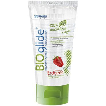Bioglide Strawberry, 80 мл Натуральная смазка со вкусом клубники bioglide cherry 80 мл натуральная смазка со вкусом вишни