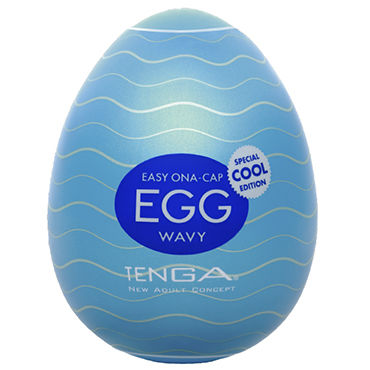 Tenga Egg Wavy Cool Edition Одноразовый мастурбатор в форме яйца, с охлаждающим лубрикантом вибрирующие яйца диаметр 4 5 см чему