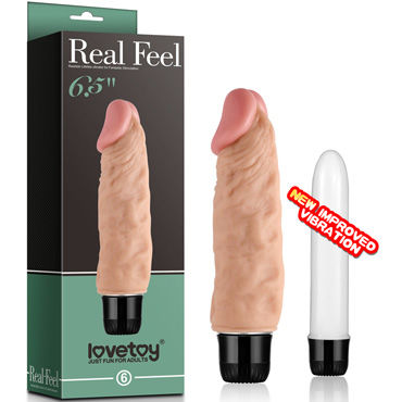 Lovetoy Real Feel №6 Вибратор реалистик вибратор womanizer lovetoy розовый