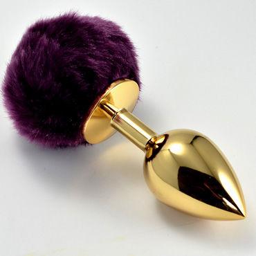 Lovetoy Tail Rabbit Small, золотая С фиолетовым хвостиком swiss navy silicone 20 мл смазка на силиконовой основе