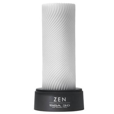 Tenga 3D Zen Многоразовый мастурбатор с уголками baci lashes красно фиолетовый накладные ресницы с перьями