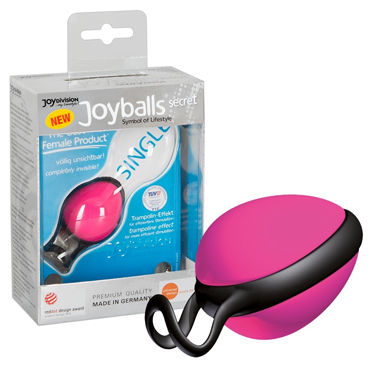 JoyDivision Joyballs Secret Single, розовый Вагинальный шарик u ouch extreme mesh balaclavea with open ball gaga