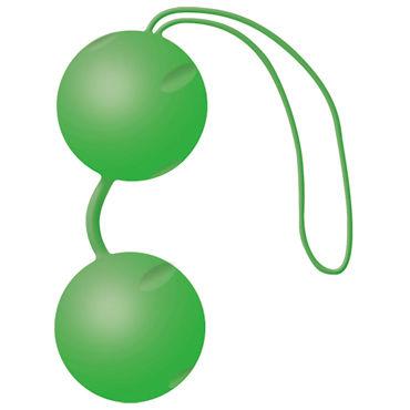 Joy Division Joyballs Trend, зеленые матовые Вагинальные шарики со смещенным центром тяжести интимные товары