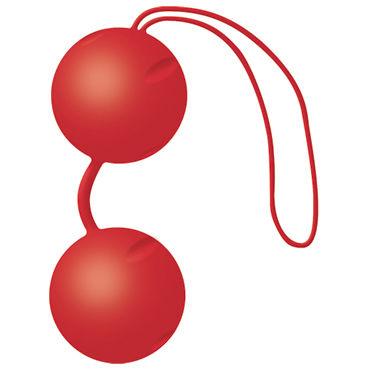 Joy Division Joyballs Trend, красные матовые Вагинальные шарики со смещенным центром тяжести л soft line стринги мужские красные