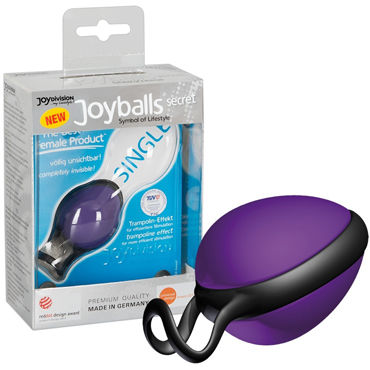 JoyDivision Joyballs Secret Single, фиолетовый Шарик со смещенным центром тяжести joydivision joyballs anal wave 30 см фиолетовый анальный стимулятор