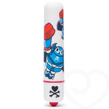 Tokidoki White Robot, белая Вибропуля с рисунком lola toys love story cleopatra розовые вагинальные шарики