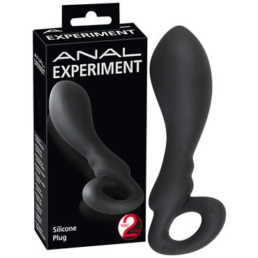 You2Toys Anal Experiment, черная Анальная пробка с кольцом pipedream anal fantasy collection ass kicker with cockring анальная пробка с эрекционным кольцом