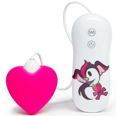 Tokidoki 10 function Pink Heart, розовый Вибратор с пультом управления tokidoki 10 function purple diamond фиолетовый вибратор с пультом управления