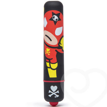 Tokidoki Black Rocket Man, черная Вибропуля с рисунком you2toys slim bullet серебристая acacia dealbata