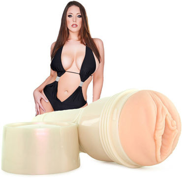 Fleshlight Signature Angela White Indulge, телесная Вагина порнозвезды Angela White sex mischief feather slapper
