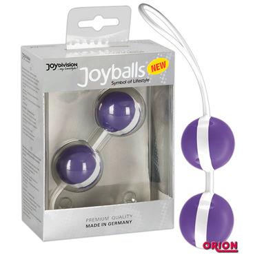 Joy Division Joyballs Trend, фиолетово-белые Вагинальные шарики joy division joyballs trend черные вагинальные шарики