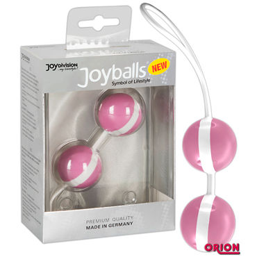 Joy Division Joyballs Trend, розово-белые Вагинальные шарики joy division joyballs trend черные вагинальные шарики